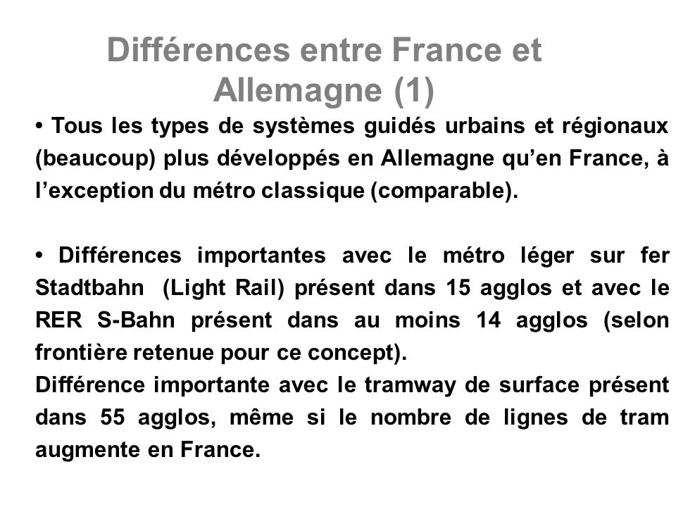 Différences entre France et Allemagne (2)