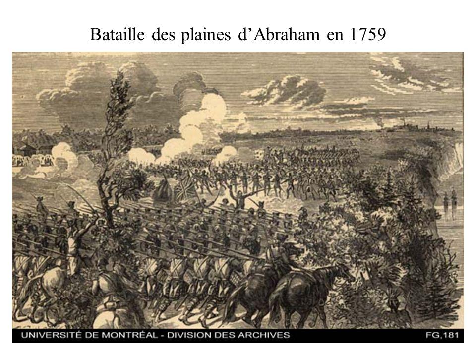 Bataille des plaines d'Abraham en 1759