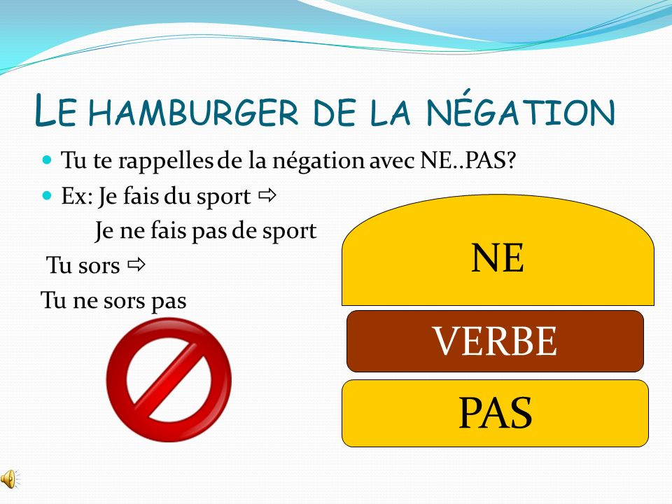 Le hamburger de la négation