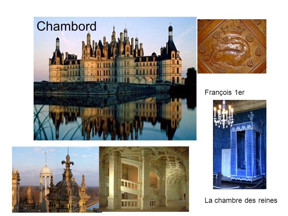 Chambord François 1er La chambre des reines