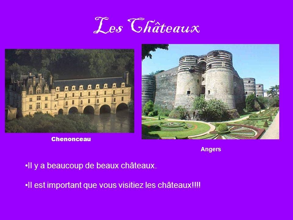 Les Châteaux Il y a beaucoup de beaux châteaux.