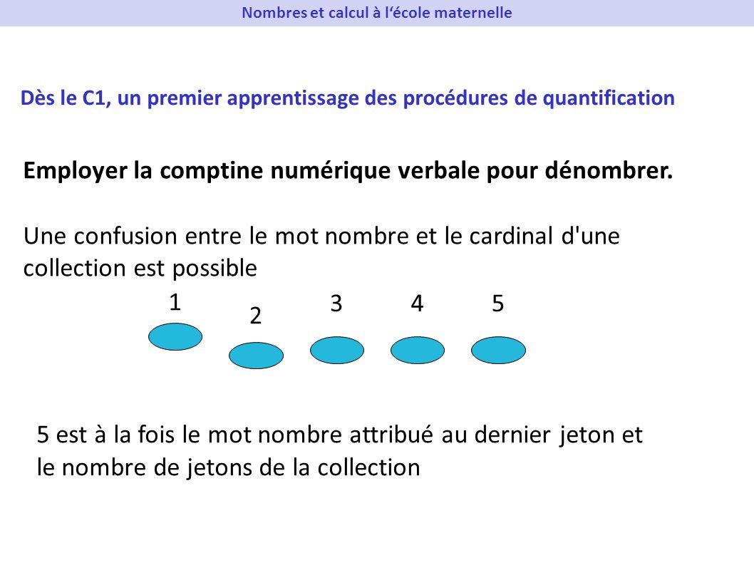 Nombres et calcul à l'école maternelle