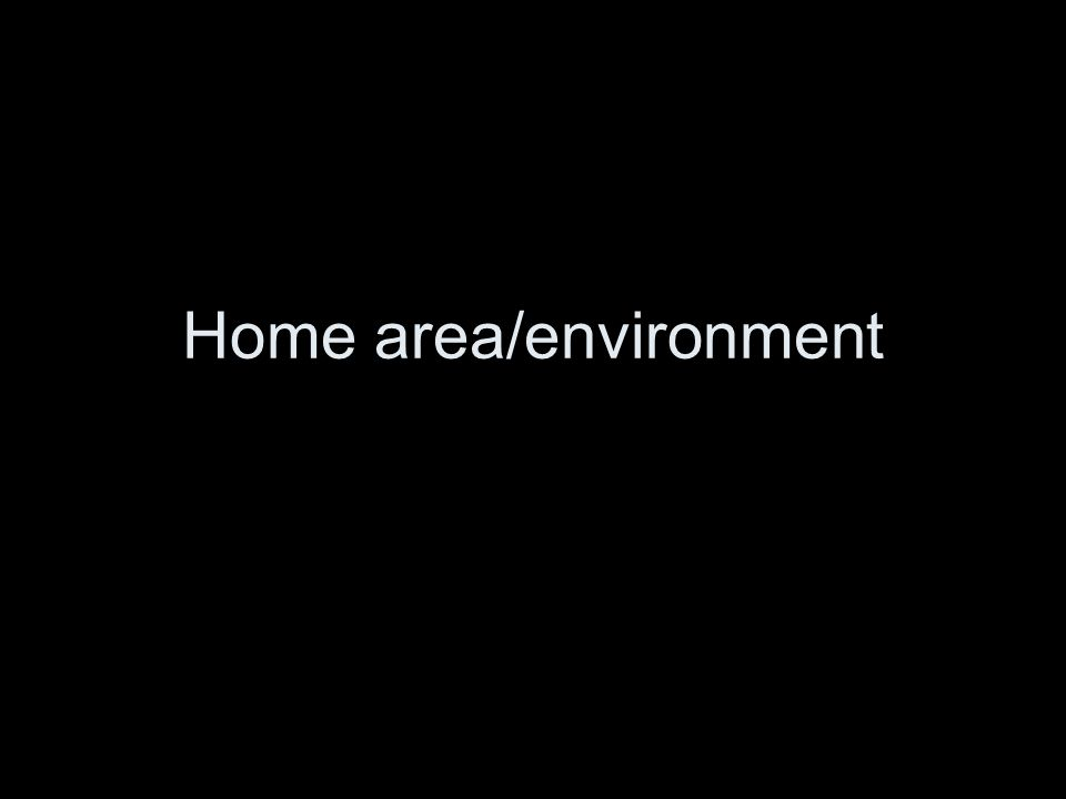 Home area/environment