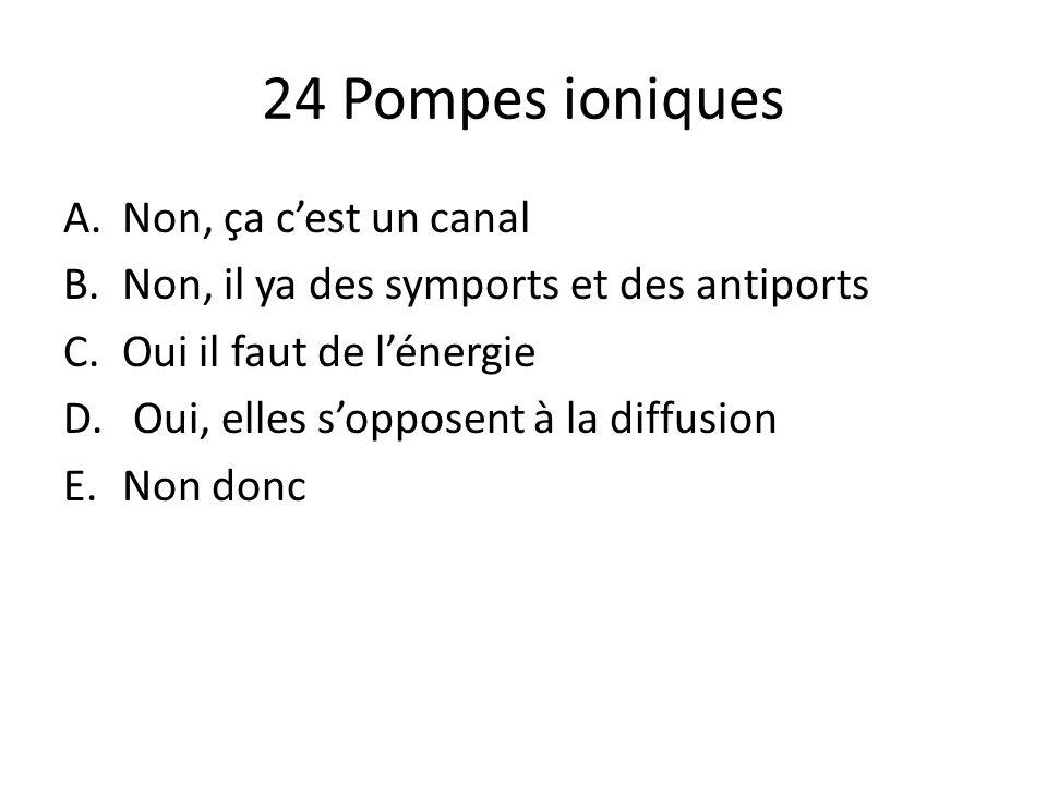 24 Pompes ioniques Non, ça c'est un canal