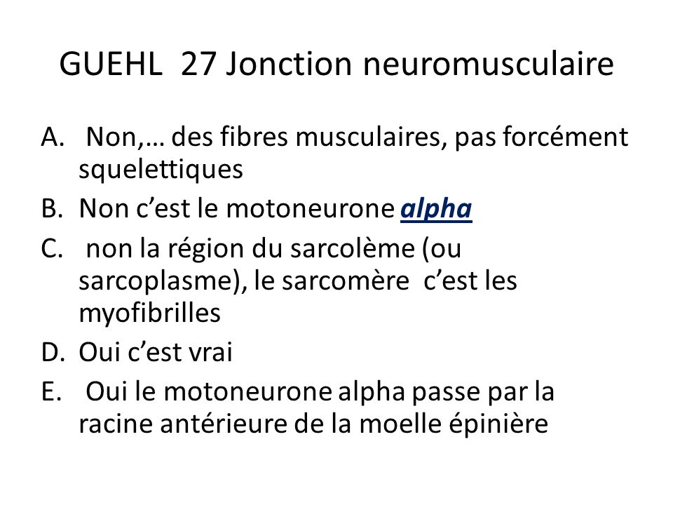 GUEHL 27 Jonction neuromusculaire