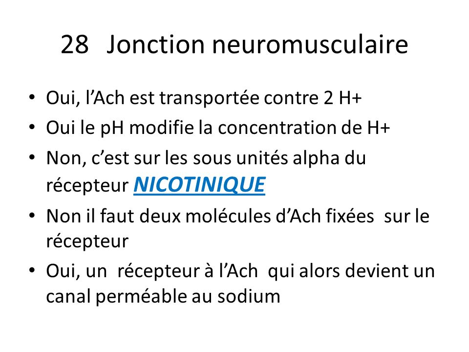 28 Jonction neuromusculaire