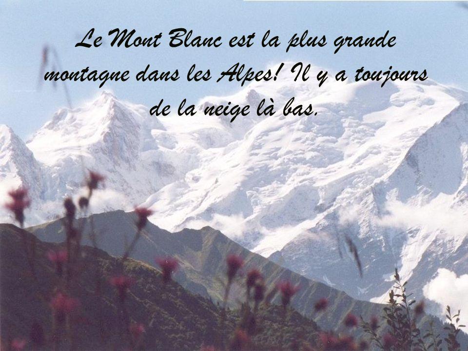 Le Mont Blanc est la plus grande montagne dans les Alpes