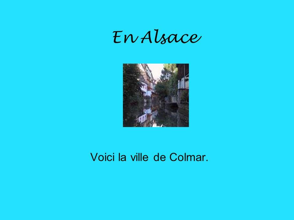 Voici la ville de Colmar.