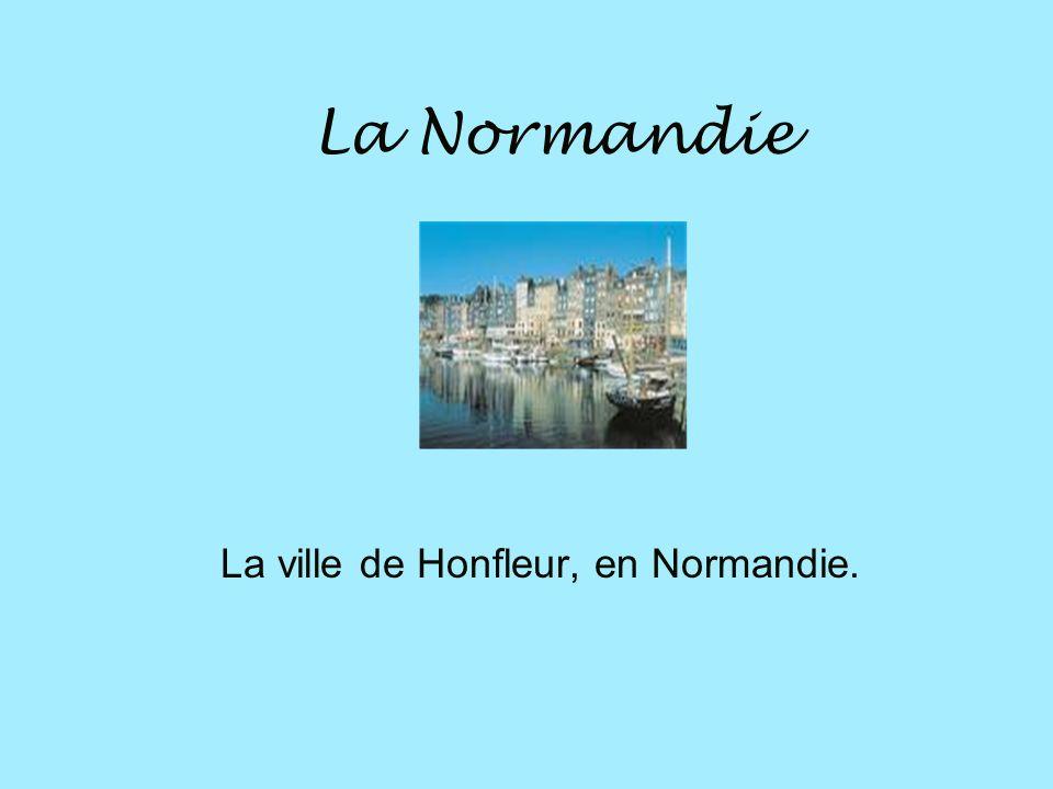 La ville de Honfleur, en Normandie.
