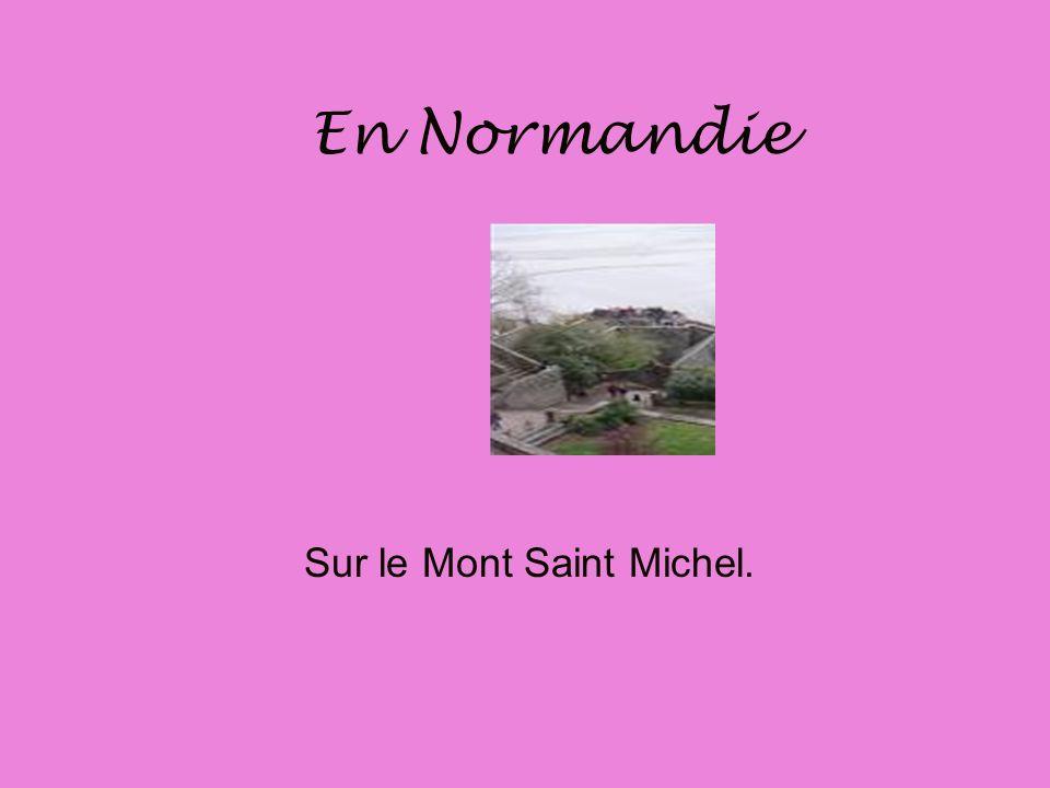 Sur le Mont Saint Michel.
