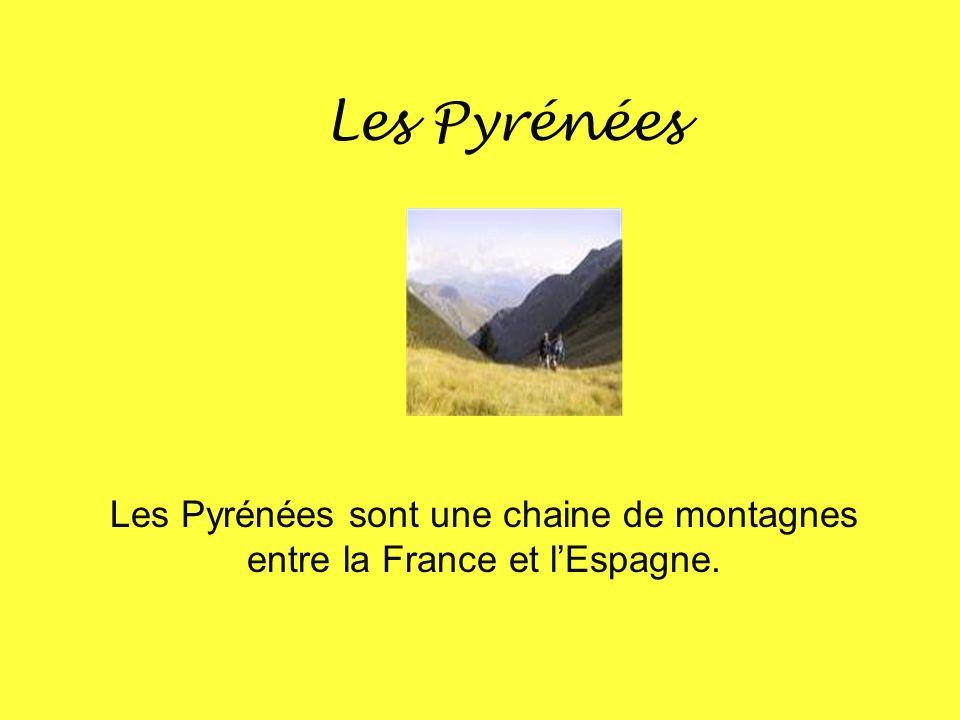 Les Pyrénées Les Pyrénées sont une chaine de montagnes entre la France et l'Espagne.