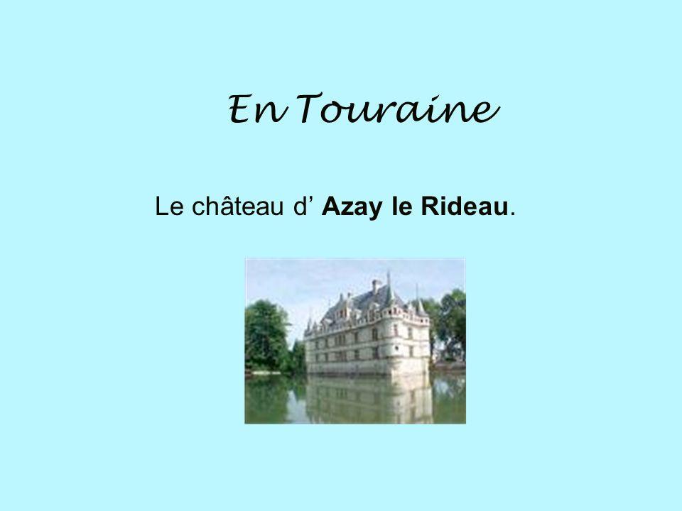 Le château d' Azay le Rideau.