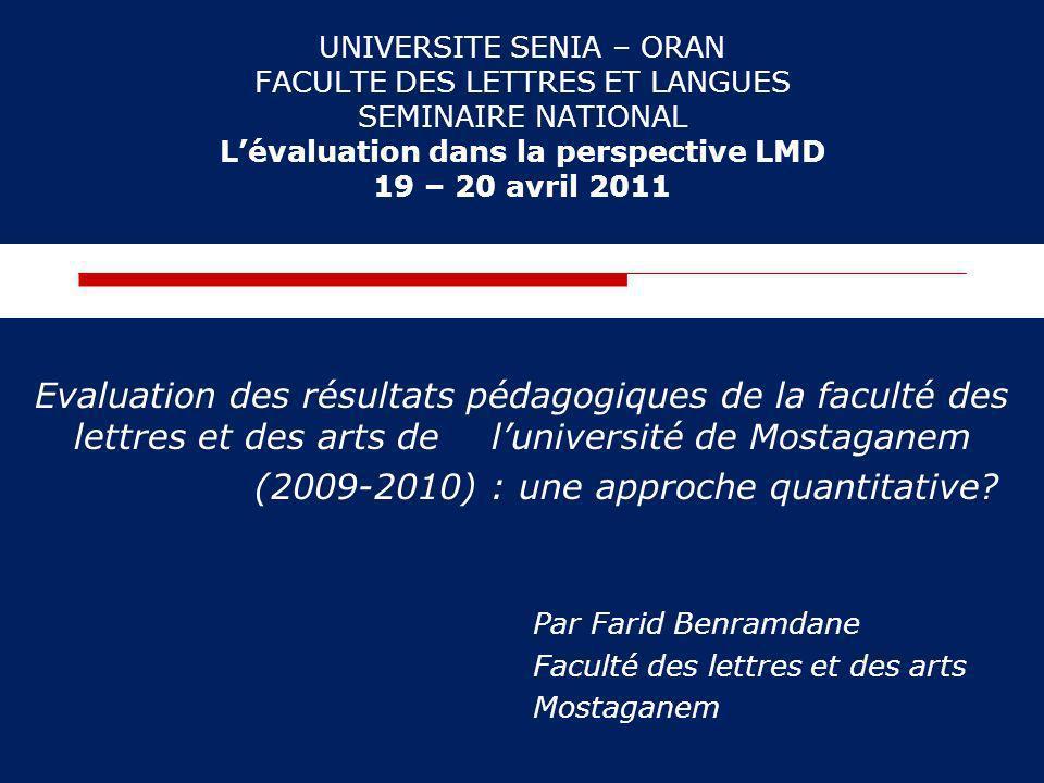 (2009-2010) : une approche quantitative