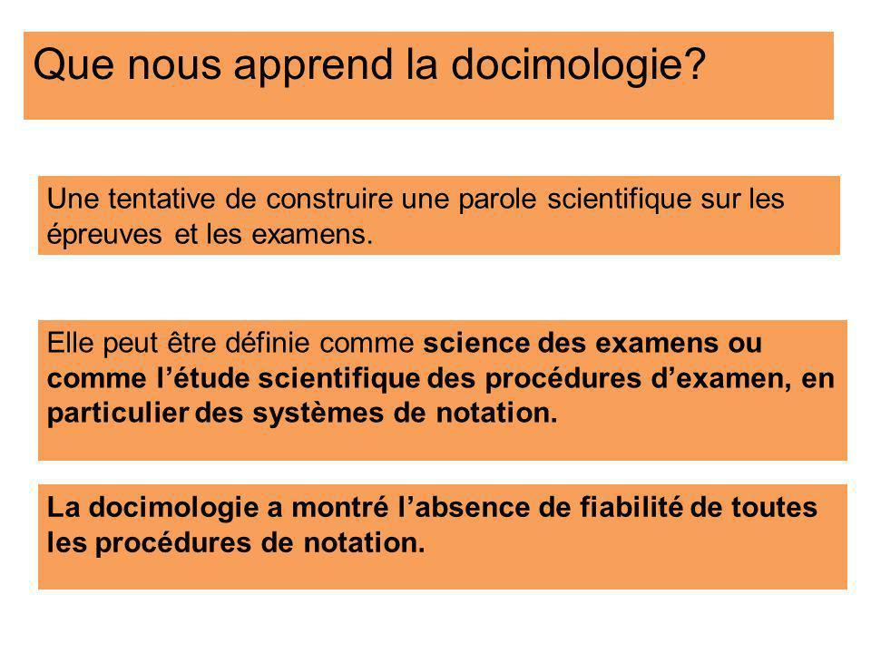 Que nous apprend la docimologie
