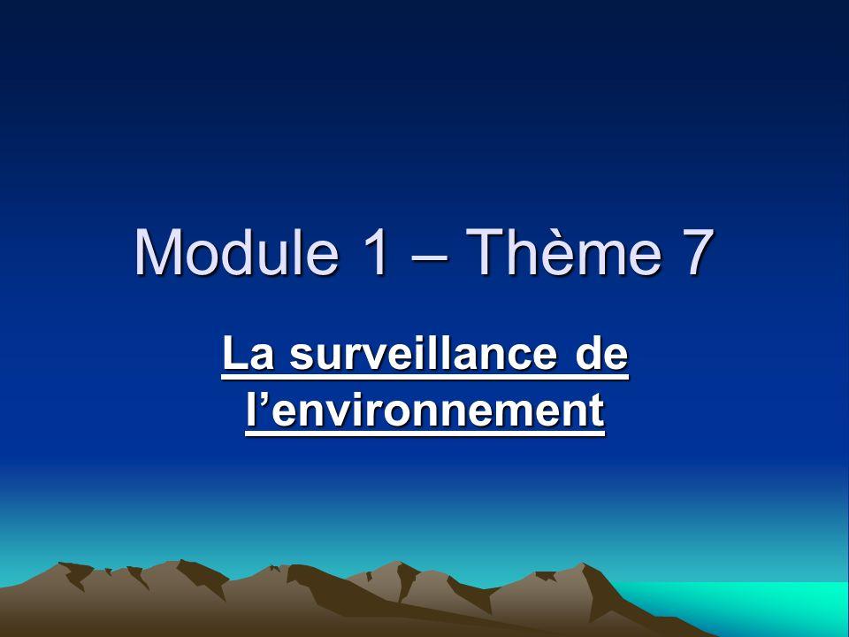 La surveillance de l'environnement