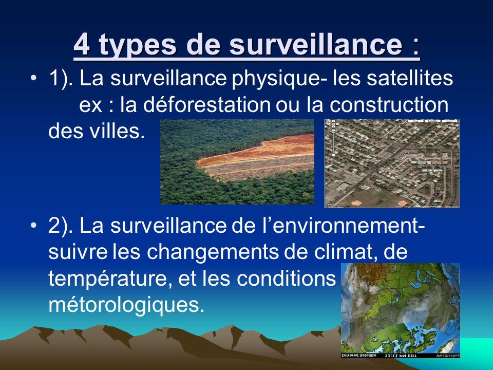 4 types de surveillance :