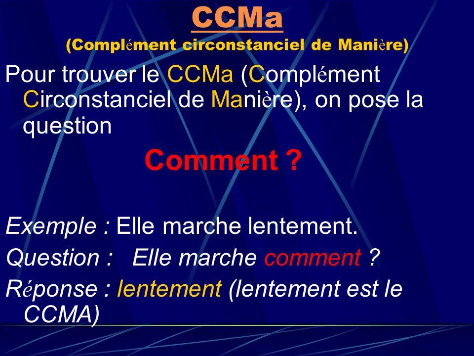 CCMa (Complément circonstanciel de Manière)
