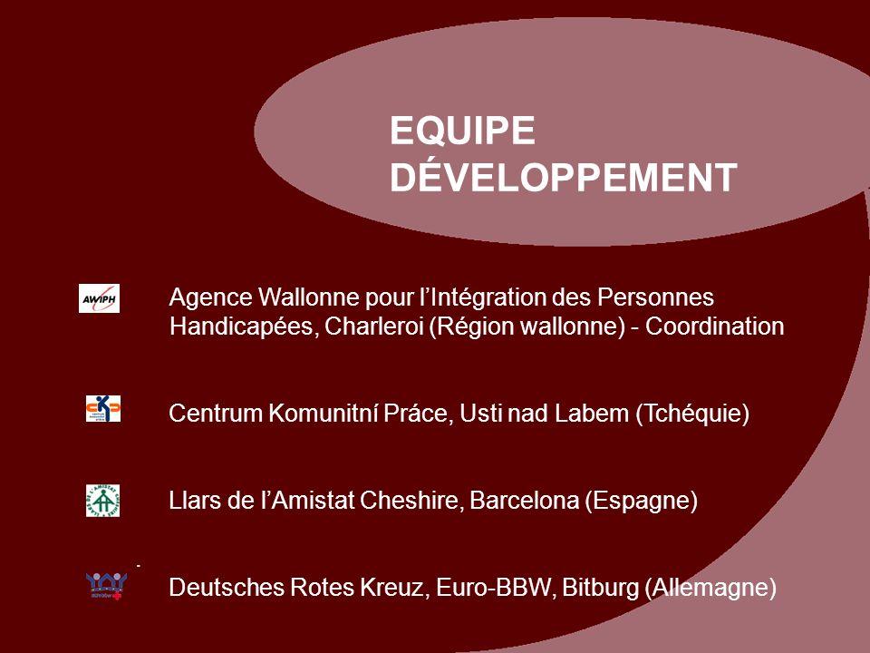 EQUIPE DÉVELOPPEMENT Agence Wallonne pour l'Intégration des Personnes Handicapées, Charleroi (Région wallonne) - Coordination.