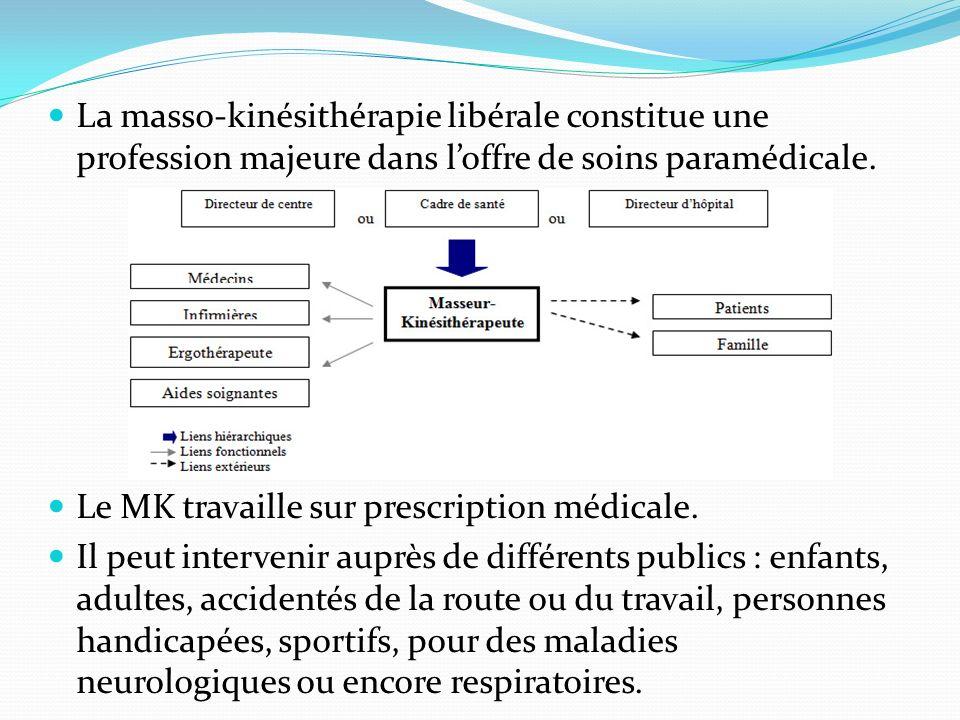 La masso-kinésithérapie libérale constitue une profession majeure dans l'offre de soins paramédicale.