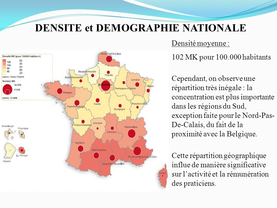 DENSITE et DEMOGRAPHIE NATIONALE