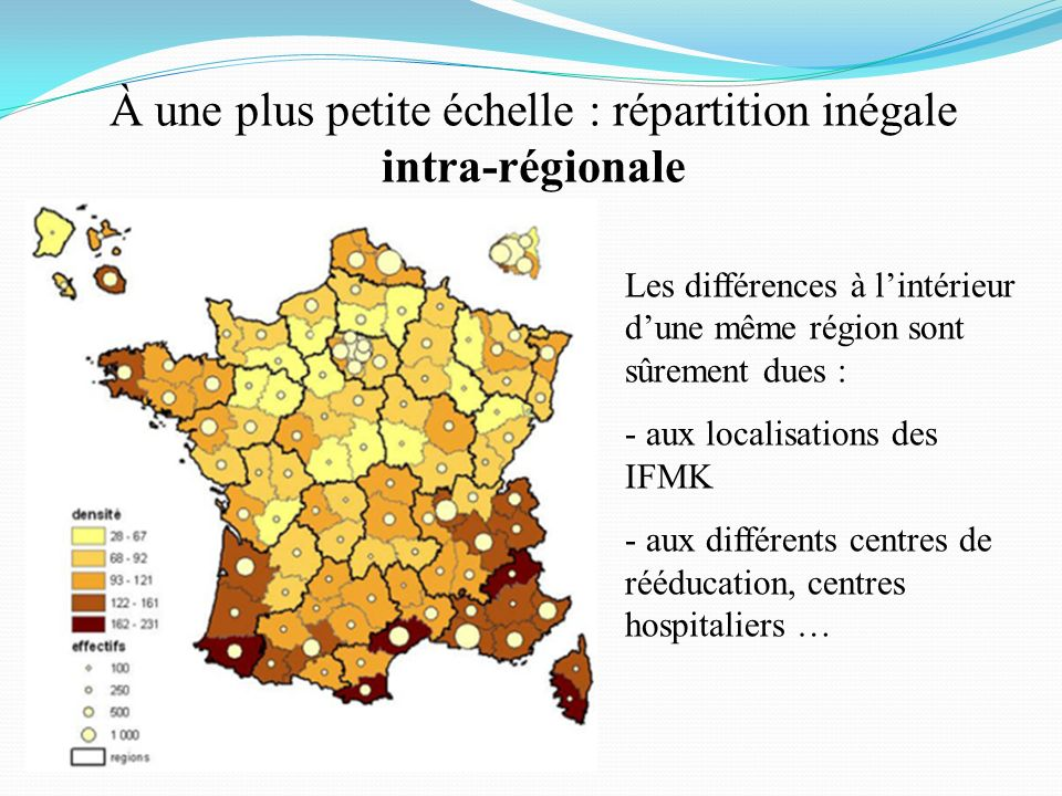 À une plus petite échelle : répartition inégale intra-régionale