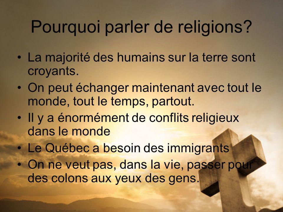 Pourquoi parler de religions