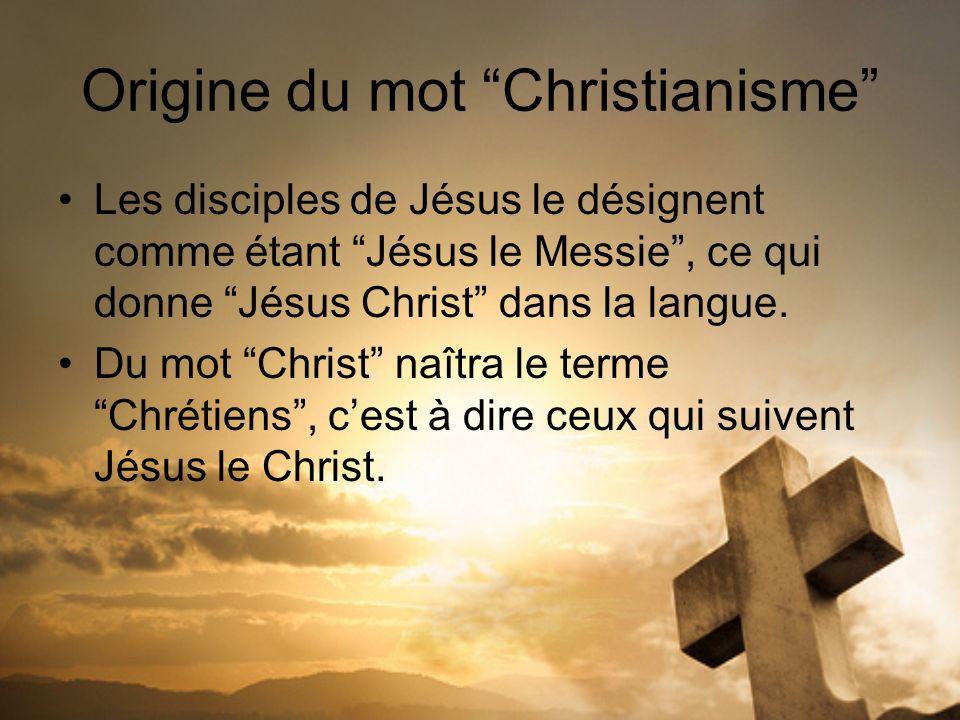 Origine du mot Christianisme
