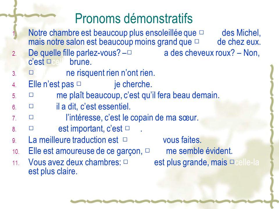 Pronoms démonstratifs