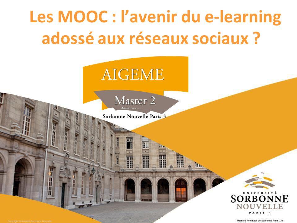 Les MOOC : l'avenir du e-learning adossé aux réseaux sociaux