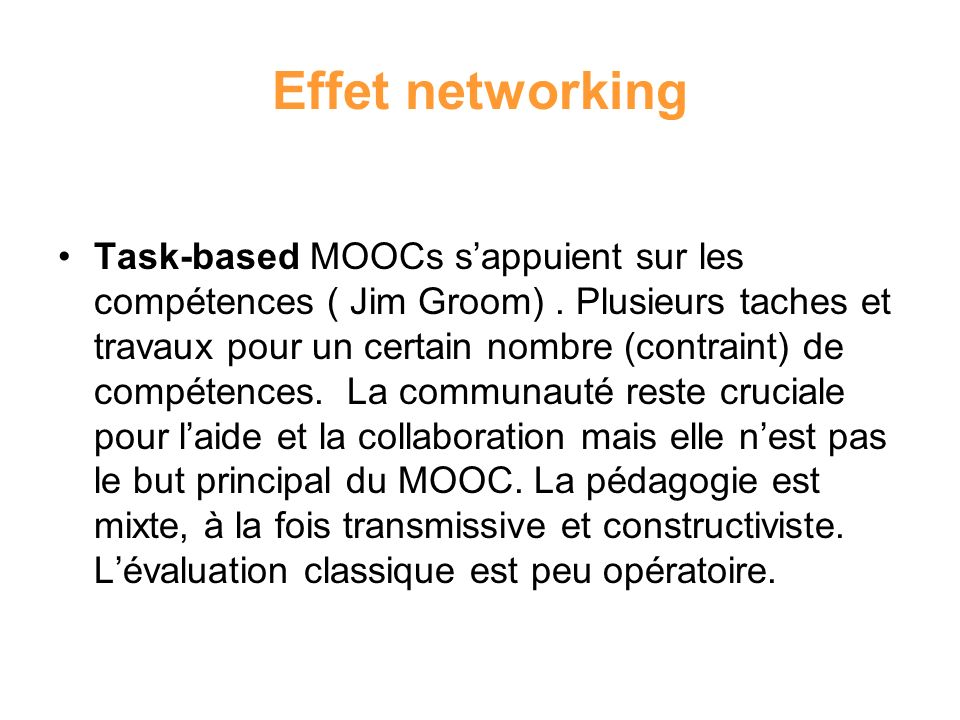 Effet networking