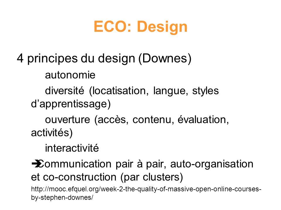 ECO: Design 4 principes du design (Downes) autonomie