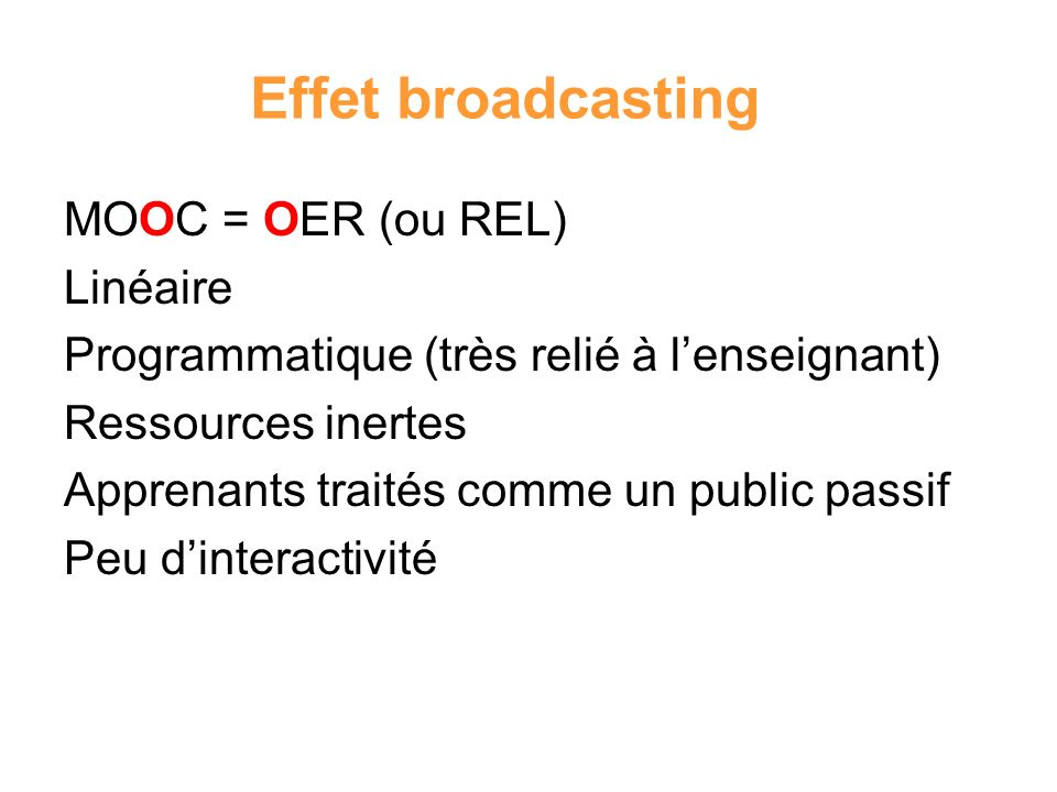 Effet broadcasting