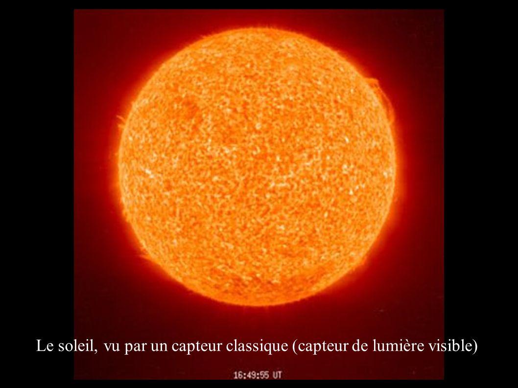 Le soleil, vu par un capteur classique (capteur de lumière visible)