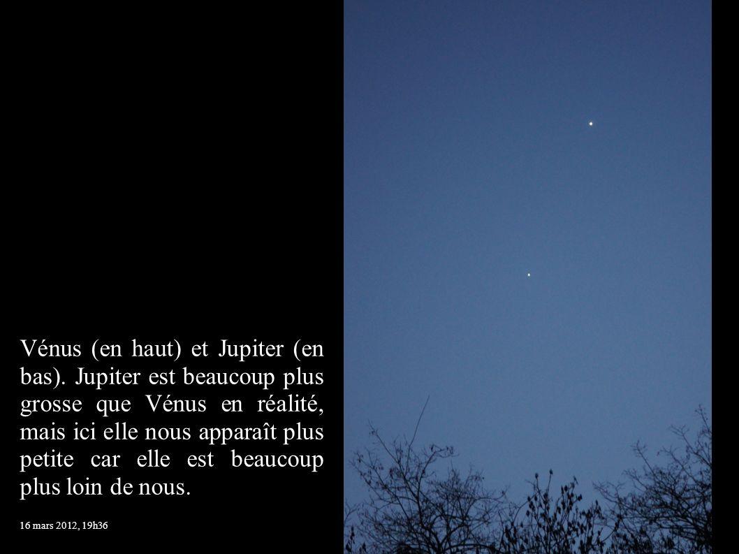Vénus (en haut) et Jupiter (en bas)