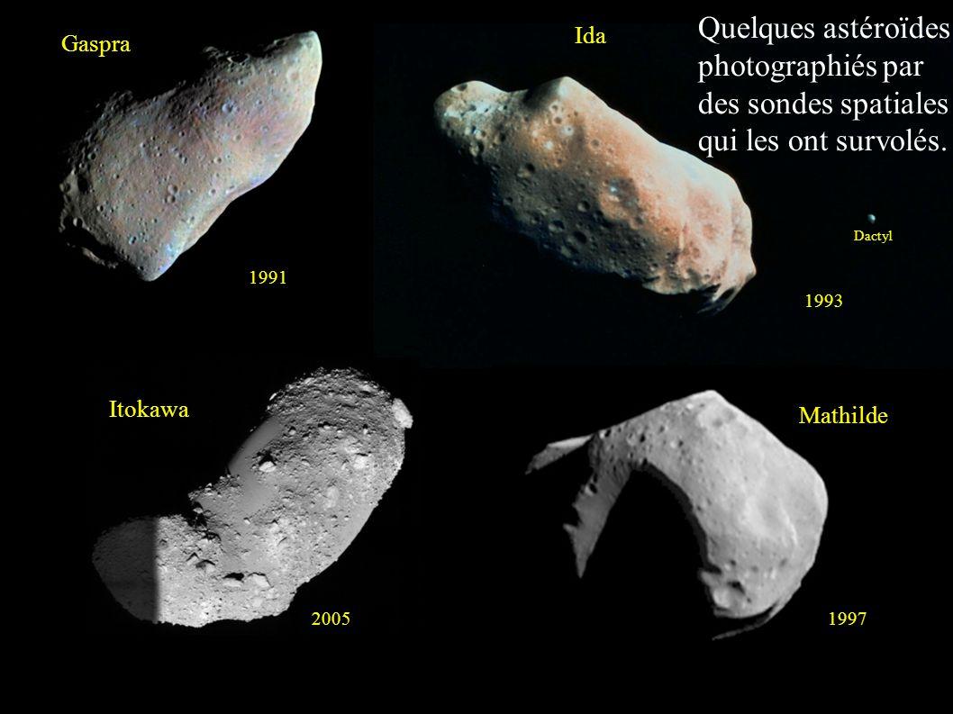 Quelques astéroïdes photographiés par des sondes spatiales qui les ont survolés.