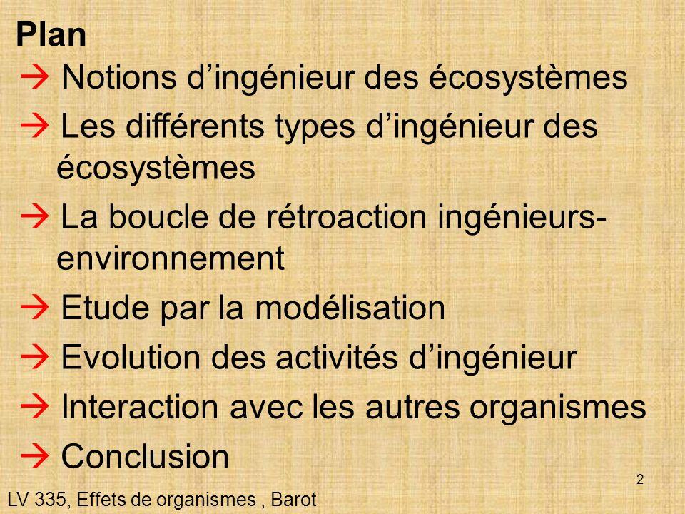  Notions d'ingénieur des écosystèmes