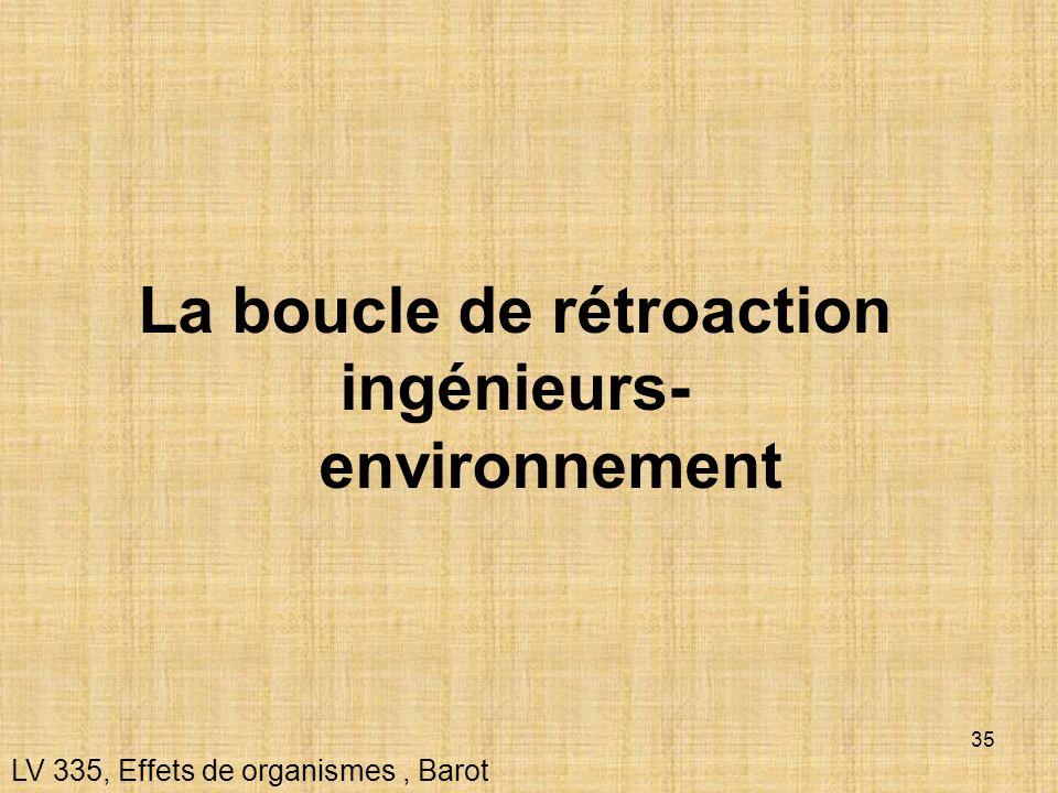 La boucle de rétroaction ingénieurs- environnement