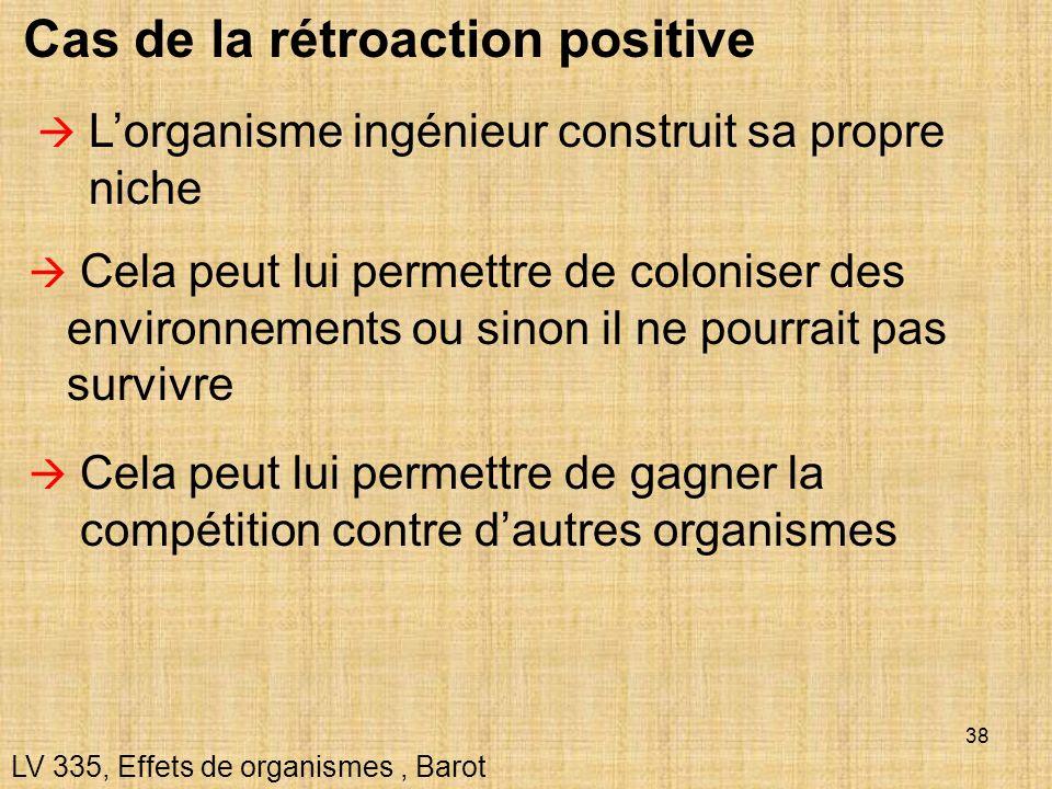 Cas de la rétroaction positive
