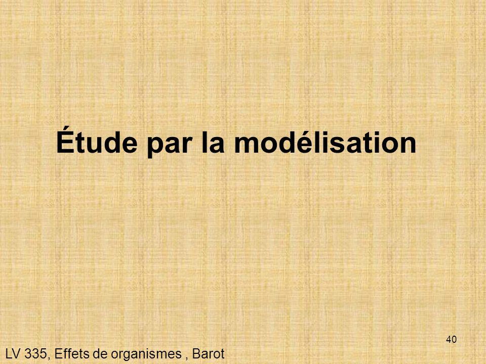 Étude par la modélisation