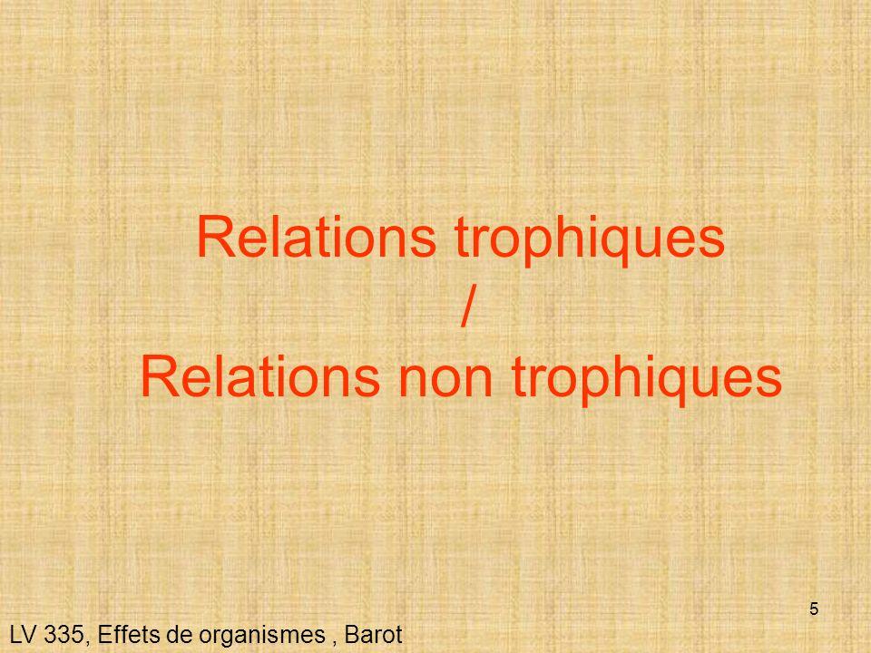 Relations trophiques / Relations non trophiques