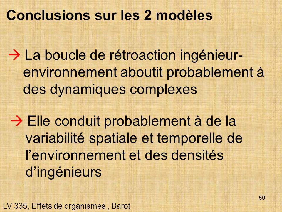 Conclusions sur les 2 modèles