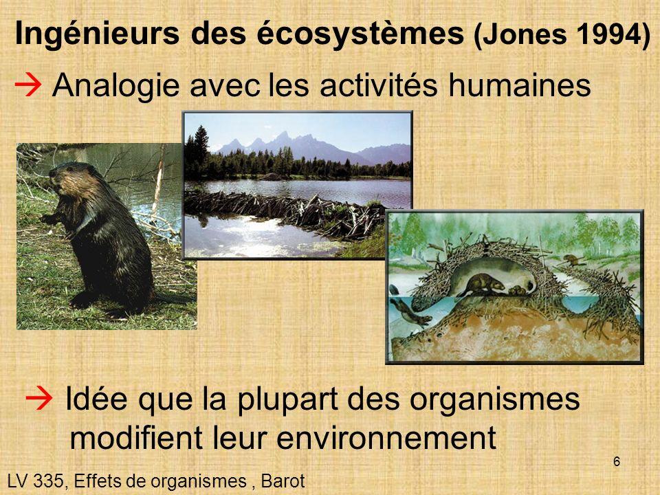 Ingénieurs des écosystèmes (Jones 1994)