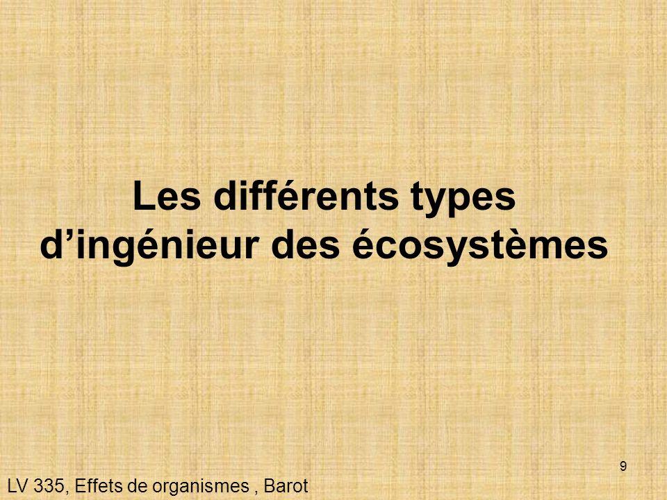 Les différents types d'ingénieur des écosystèmes