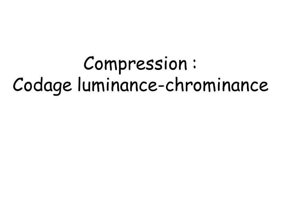 Codage luminance-chrominance