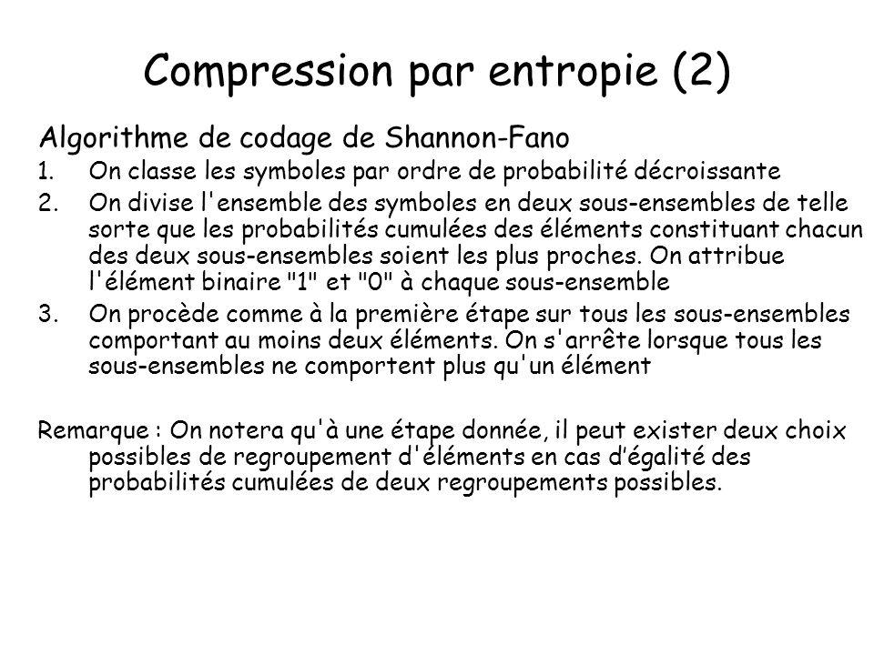 Compression par entropie (2)