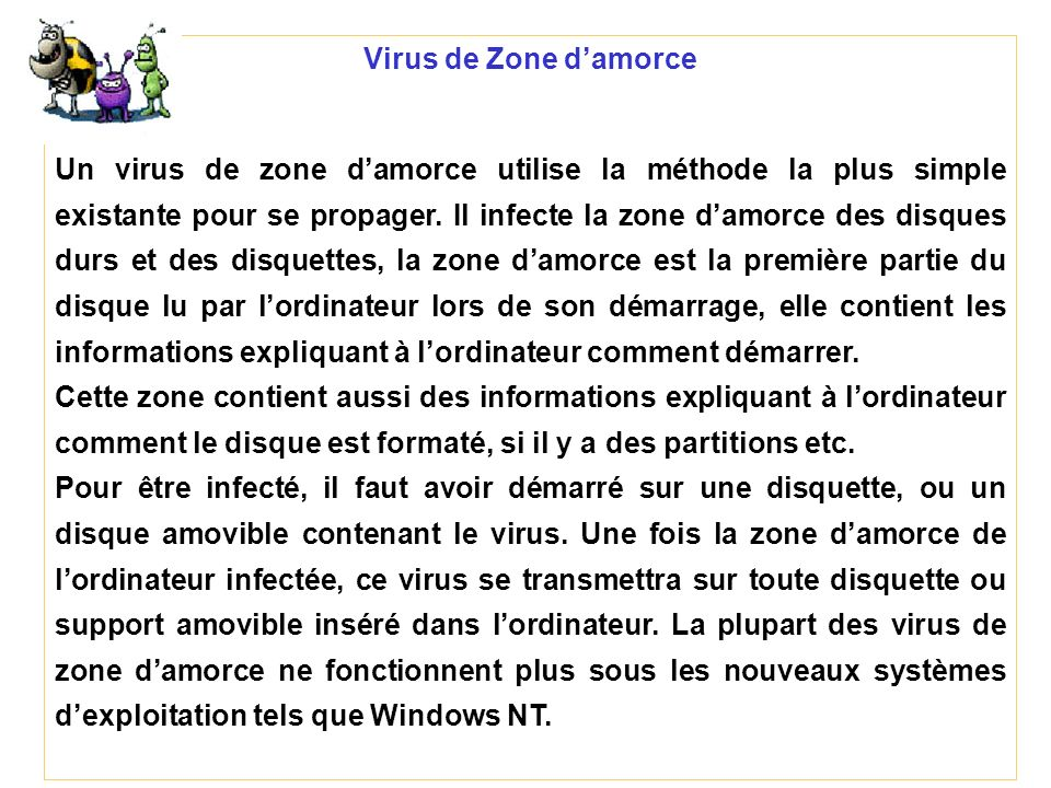 Virus de Zone d'amorce