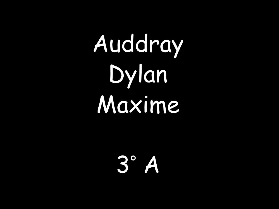 Auddray Dylan Maxime 3° A