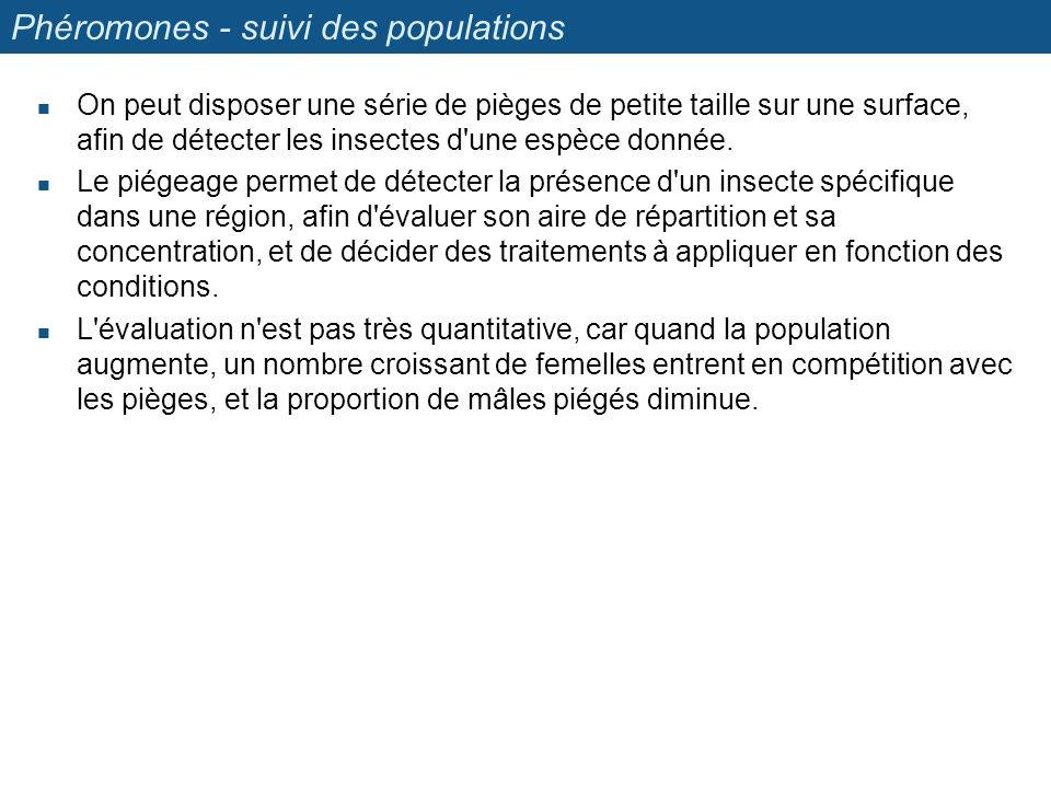 Phéromones - suivi des populations