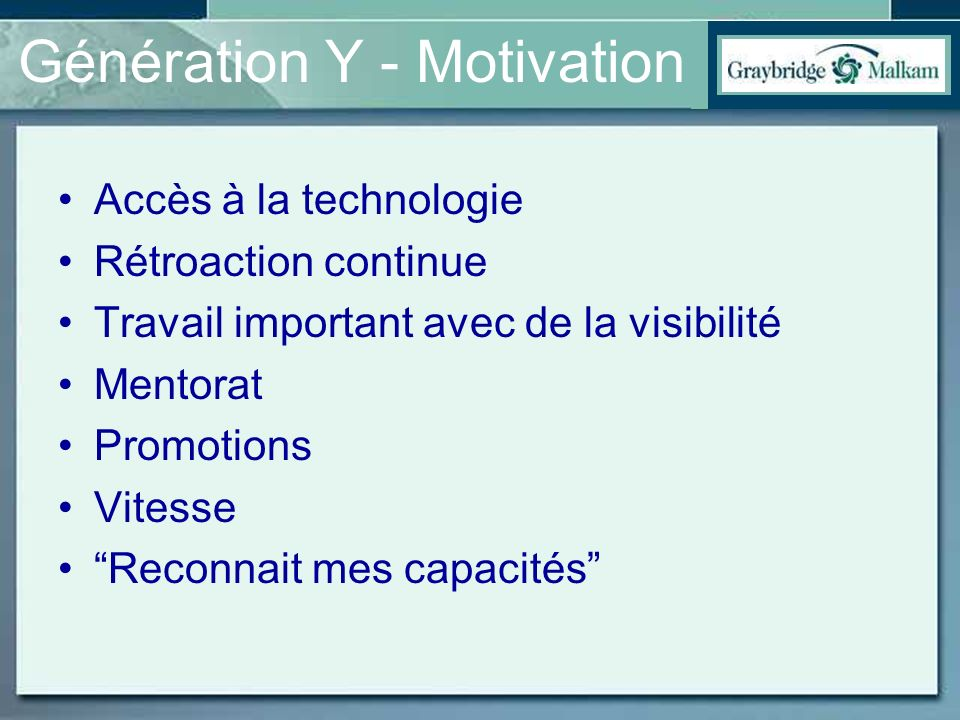 Génération Y - Motivation