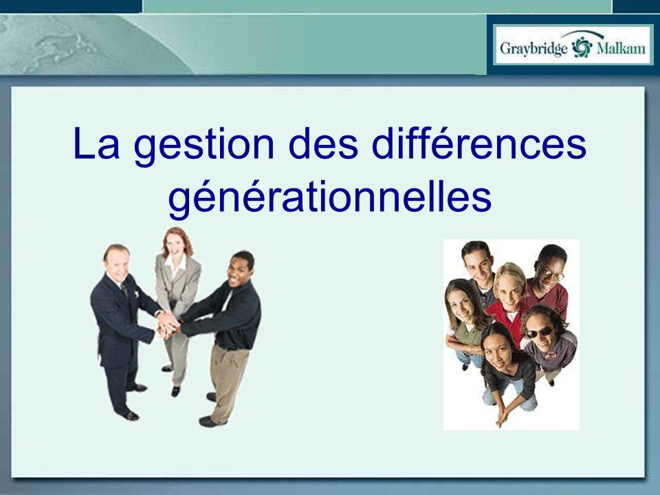 La gestion des différences générationnelles